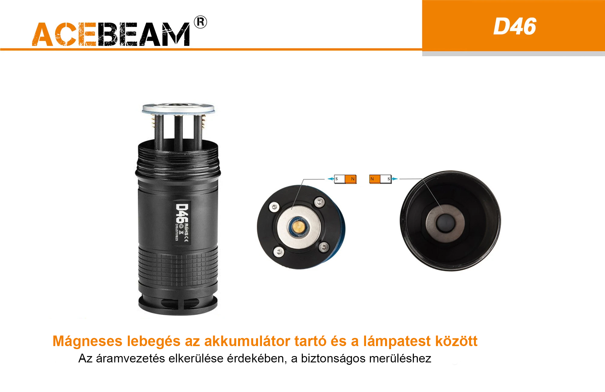 AceBeam D46 búvár elemlámpa