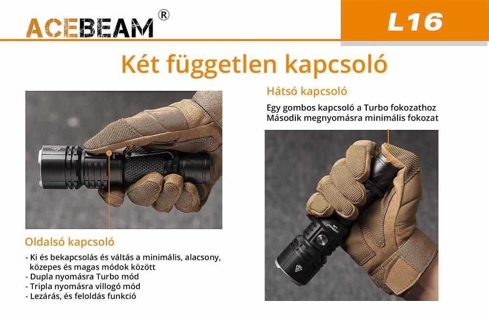 AceBeam L16 vadász elemlámpa