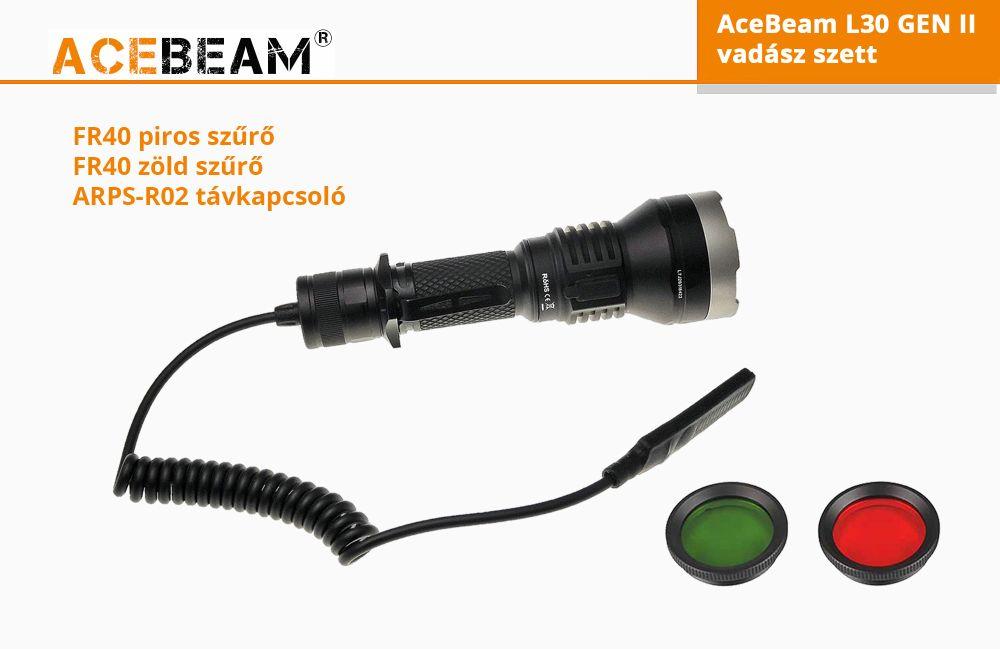 AceBeam L30 vadász elemlámpa szett